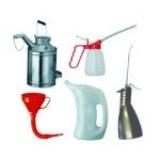 Olejničky, trychtýře, nádoby na olej
